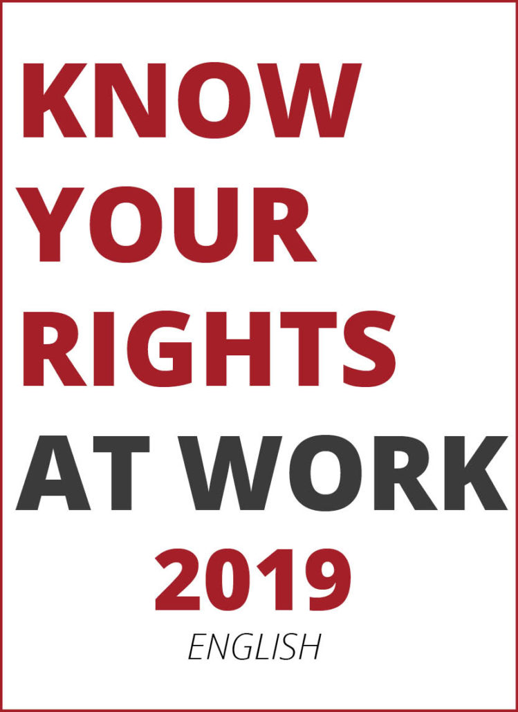 2019 Know Your Rights brochure in English