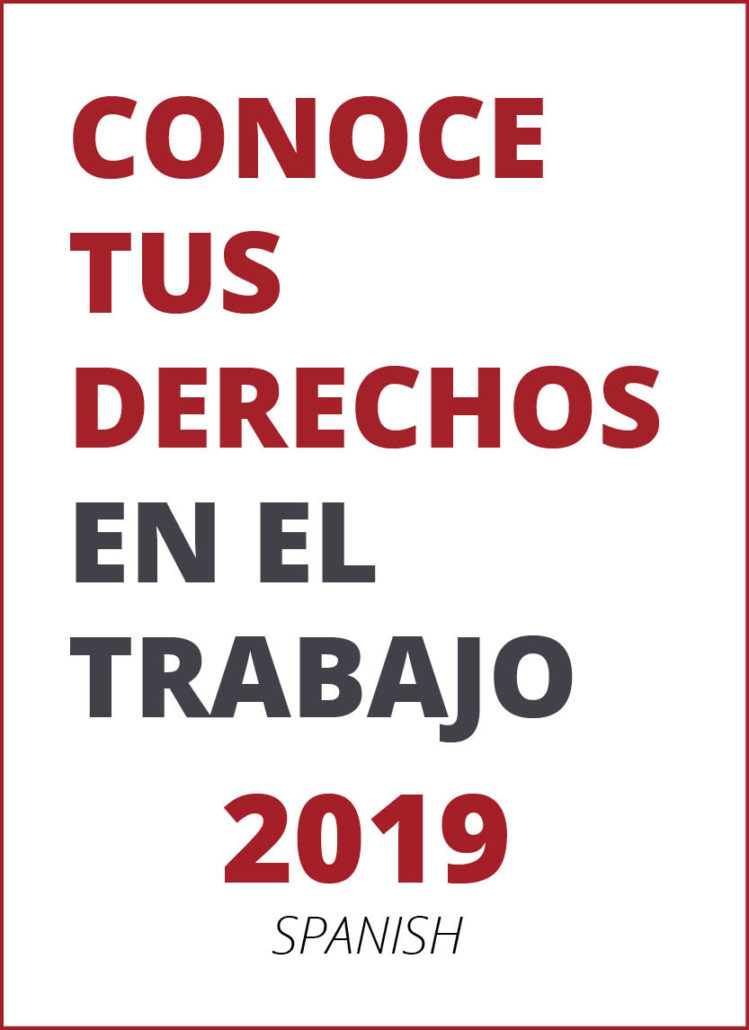 2019 Know Your Rights brochure  Spanish