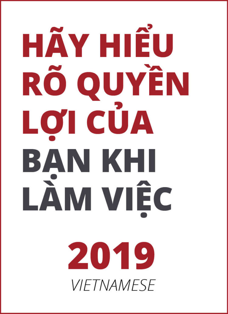2019 Know Your Rights (Vietnamese)